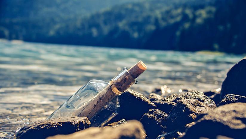 FOTOS: Hallan en un río de Moscú un mensaje en una botella lanzada al mar por una niña en España