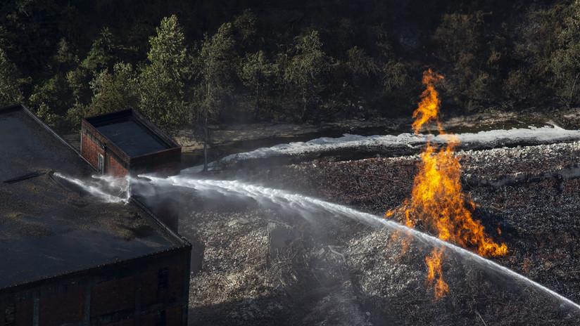 VIDEOS: Un incendio destruye cerca de 45.000 barriles de bourbon en un almacén de Jim Beam en Kentucky