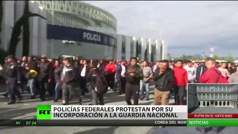La Policía Federal mexicana convoca un paro nacional