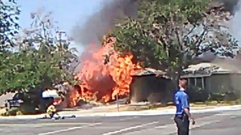 VIDEO: Fuerte sismo en el sur de California provoca un incendio y deslizamientos de tierra