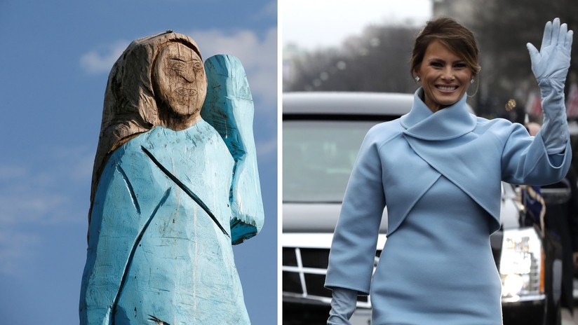 """VIDEO: Erigen una estatua de Melania Trump en su país natal, pero resulta ser una """"vergüenza"""" para los eslovenos"""