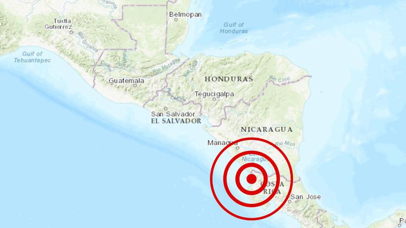 Un sismo de magnitud 5,5 se registra en Costa Rica cerca la frontera con Nicaragua