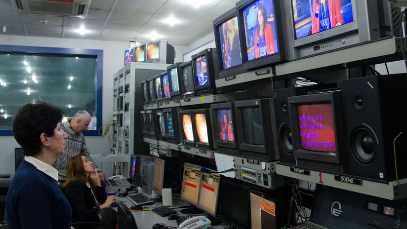 Un canal georgiano suspende temporalmente las transmisiones después de que un presentador insultara a Putin en vivo