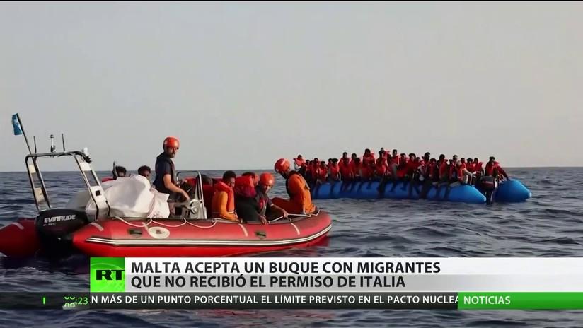 Malta acepta un barco con migrantes que no recibió el permiso para atracar en Italia