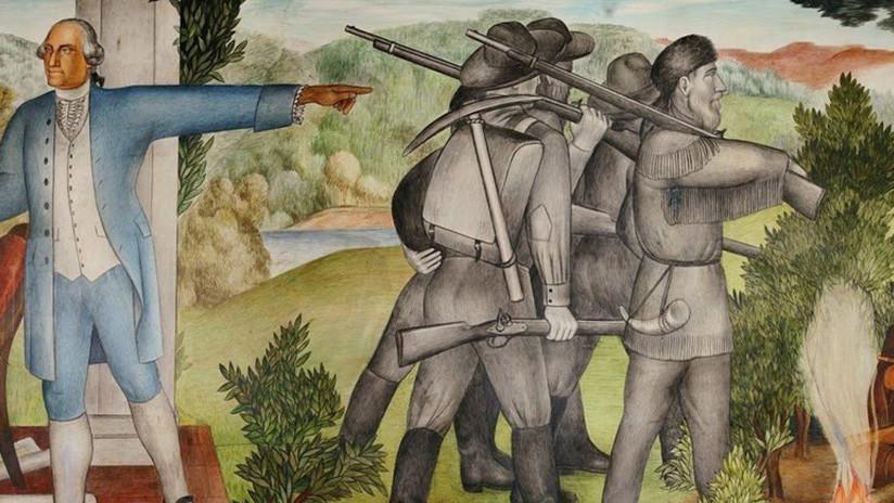 Unos murales que representan a George Washington con esclavos, a punto de desaparecer en San Francisco (pero los académicos se oponen)