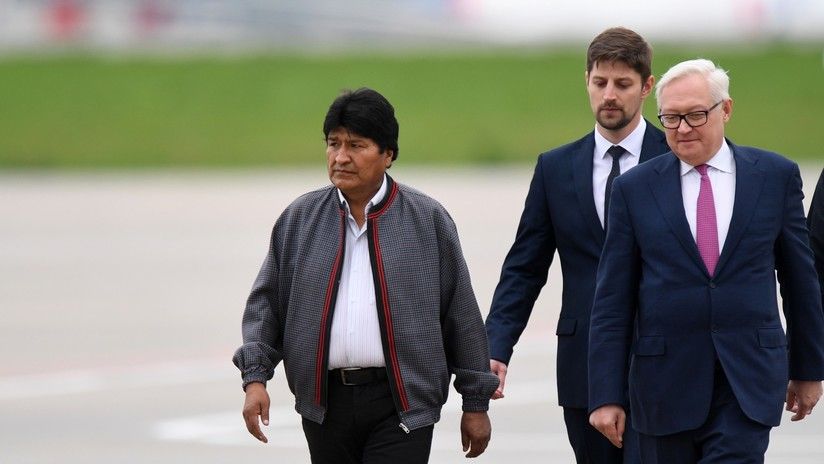Vladímir Putin y Evo Morales ofrecen una rueda de prensa