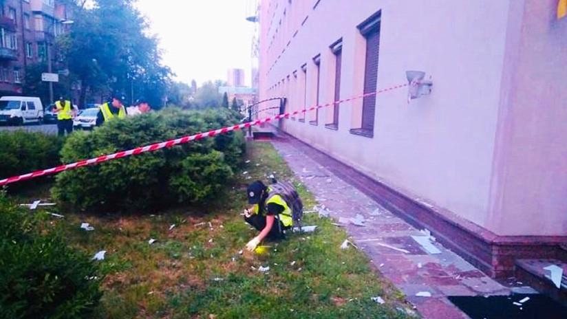 Con un lanzagranadas atacaron una sede de televisión de Ucrania