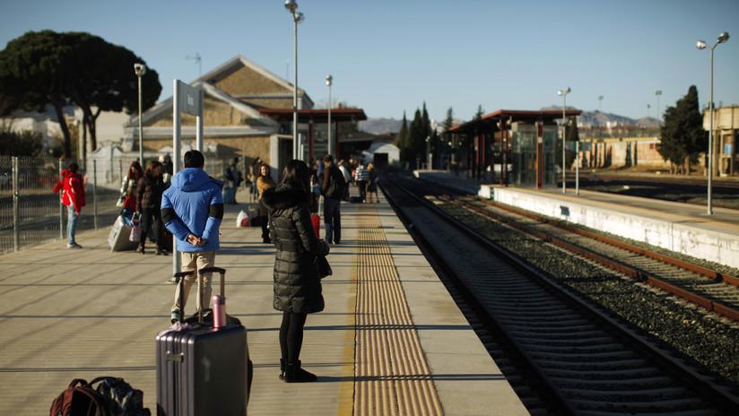 La huelga de los trabajadores ferroviarios en España obliga a la cancelación de más de 300 trenes