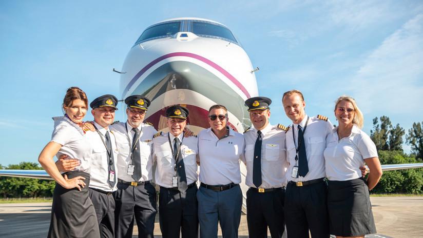 Equipo de aviadores rompe récord mundial al realizar la circunnavegación del globo más rápida