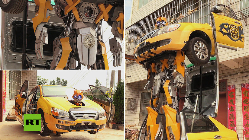 VIDEO: Un diseñador de juguetes 'da vida' a un gigante robot transformer