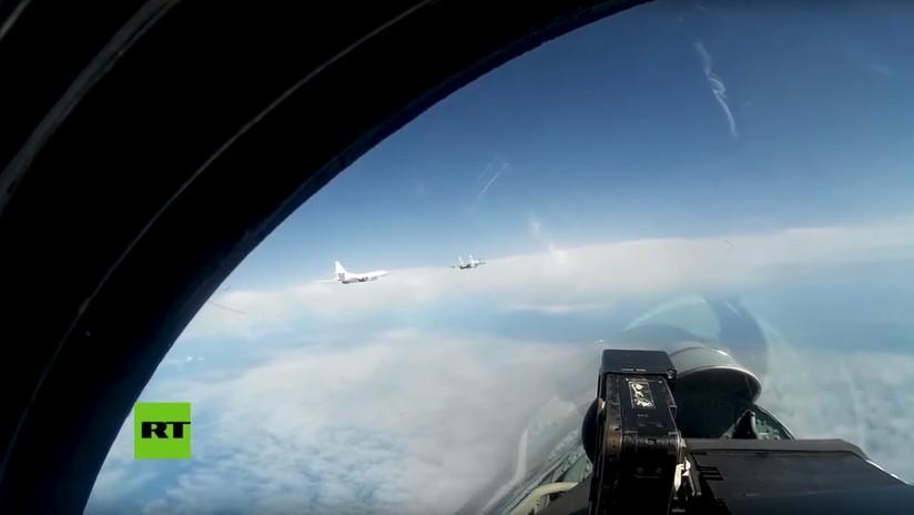 VIDEO: Bombarderos Tu-160 son escoltados por cazas daneses, finlandeses y suecos cerca de las fronteras de Rusia