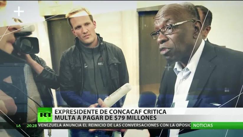 Exvicepresidente de la FIFA protesta multa de 79 millones de dólares por sobornos