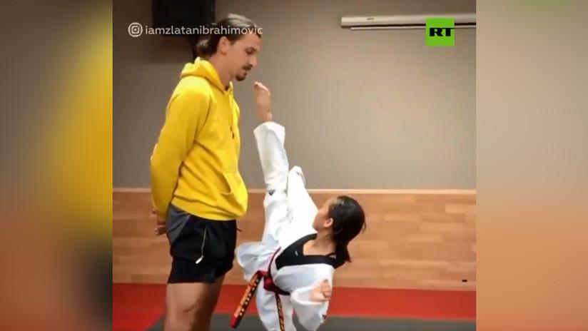 VIDEO: Una niña lanza una patada de taekwondo a la barbilla de Zlatan Ibrahimovic