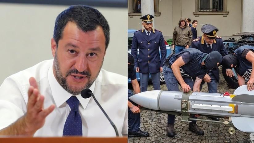 Salvini afirma que el enorme arsenal incautado a un grupo de extrema derecha fue parte de un complot para asesinarlo