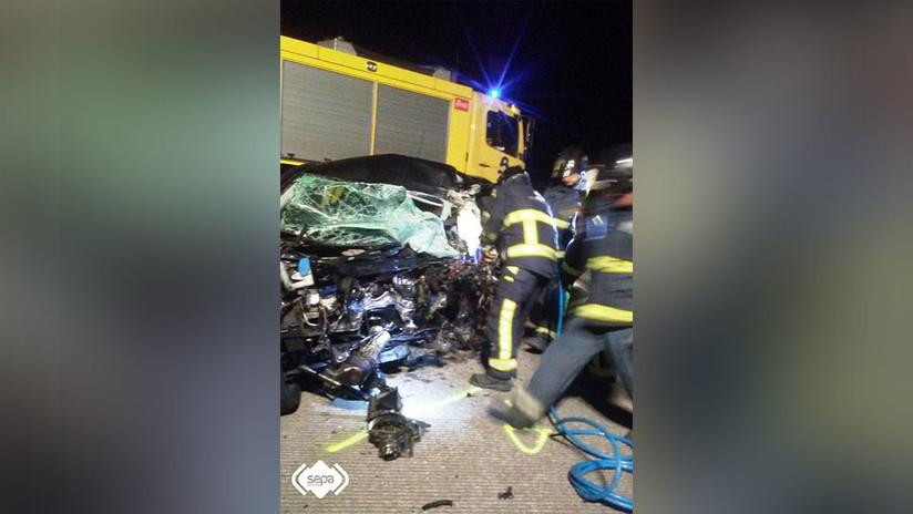 FOTOS: Un conductor 'kamikaze' muere y causa cinco heridos en un accidente en España tras ir a 200 kilómetros por hora en dirección contraria