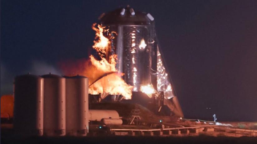 VIDEO: La nave de prueba Starhopper de SpaceX estalla y sale ardiendo en la plataforma de lanzamiento