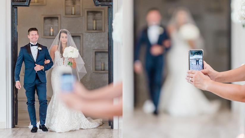 FOTO: Una joven arruina con su celular la imagen perfecta en una boda y la indignación de la fotógrafa se hace viral