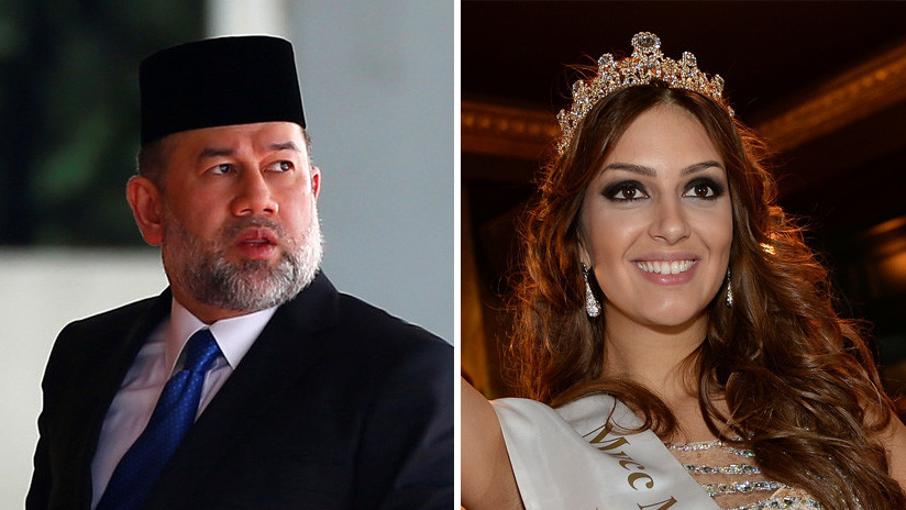 Reportan que el exrey de Malasia se divorcia de la antigua Miss Moscú medio año después de renunciar al trono por casarse con ella