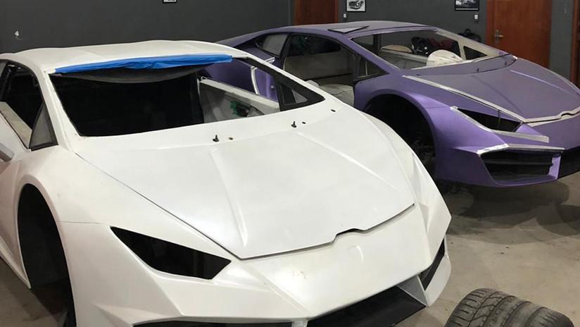 FOTOS: Desalojan en Brasil una fábrica clandestina de Lamborghinis y Ferraris falsos