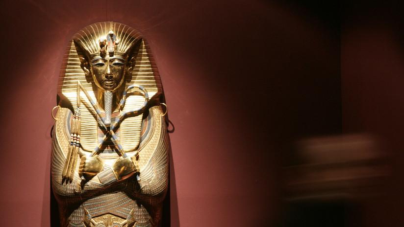 Restauran por primera vez el ataúd dorado de Tutankamón