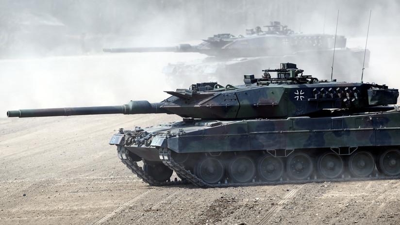VIDEO: Tanques Abrams y Leopard simulan una batalla con el Т-72М soviético