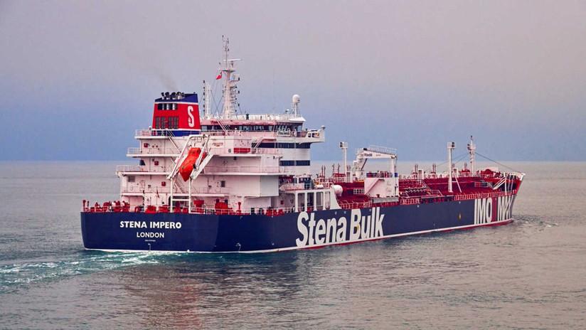 El petrolero británico se vio involucrado en un accidente con un barco de pesca iraní antes de su incautación