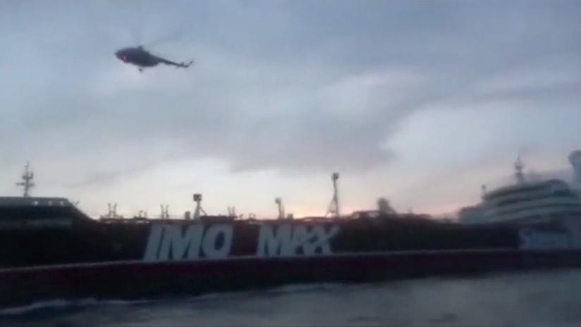 VIDEO: Irán muestra el momento exacto de la incautación del petrolero británico con helicópteros y lanchas rápidas