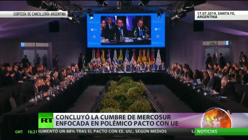 Concluye la cumbre del Mercosur enfocada en un polémico acuerdo con la UE