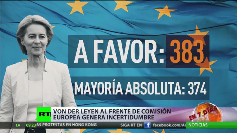 Von der Leyen al frente la Comisión Europea genera incertidumbre