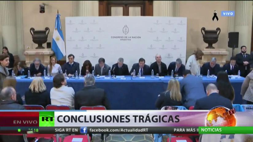 Informe final del Congreso de Argentina señala que el naufragio del ARA San Juan fue provocado por un sinnúmero de factores