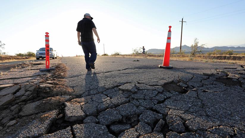 Las imágenes muestran cómo los terremotos de California modificaron la tierra