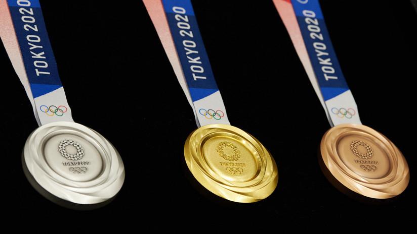 VIDEO: Presentan las medallas olímpicas de Tokio 2020, fabricadas con dispositivos electrónicos reciclados