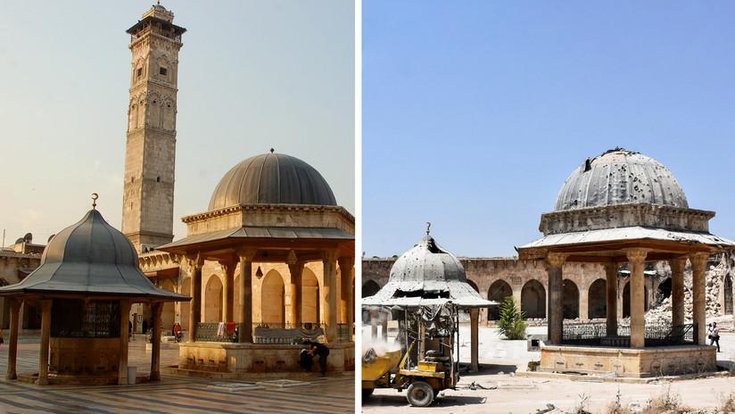 FOTOS: El antes y después de la reconstrucción de monumentos famosos en la ciudad siria de Alepo