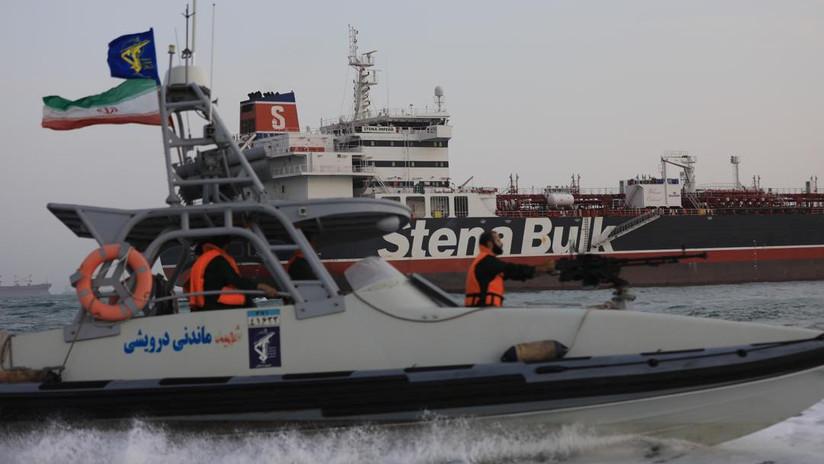 Irán publica sus advertencias al buque de guerra británico que intentó impedir la incautación del Stena Impero