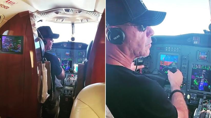 VIDEO: El vocalista de Rammstein pilota un avión rumbo a Moscú para ofrecer un concierto
