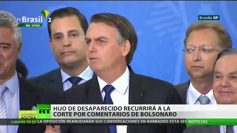 Hijo de activista desaparecido recurrirá a la Justicia brasileña por polémicos comentarios de Jair Bolsonaro