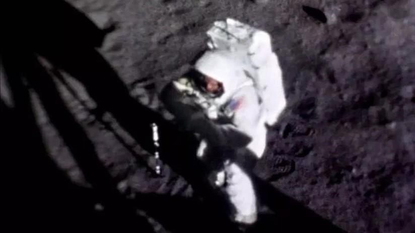 FOTO: Una recreación en HD de una fotografía única permite ver en detalle la cara de Neil Armstrong cuando estaba en la Luna