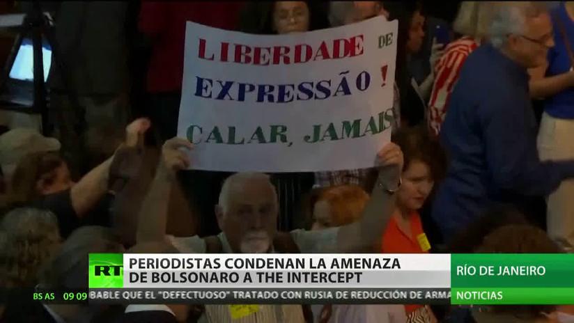 Periodistas brasileños condenan las amenazas de Bolsonaro al portal The Intercept