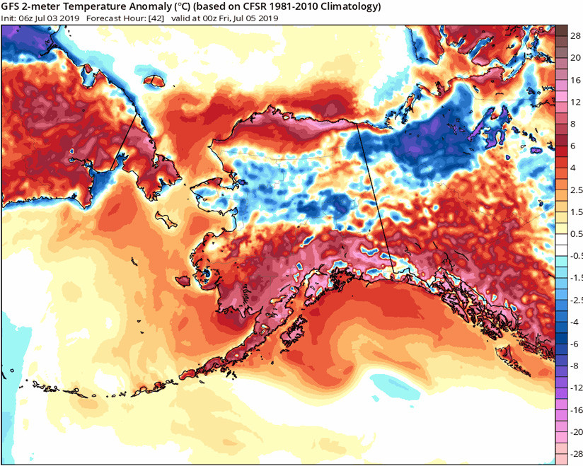 Anchorage, Alaska, registra temperaturas más altas que Miami