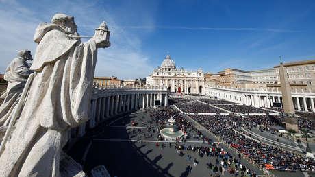 El papa Francisco dirige la misa del Domingo de Ramos en la Plaza de San Pedro. El Vaticano, 25 de marzo de 2018.