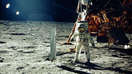 El astronauta Buzz Aldrin en la superficie de la Luna, el 20 de julio de 1969
