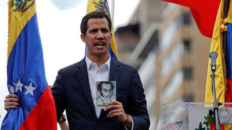 Juan Guaidó en Caracas, Venezuela, el 23 de enero de 2019