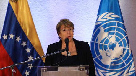 Michelle Bachelet, Alta Comisionada para los Derechos Humanos, en Caracas, Venezuela, 21 de junio de 2019.