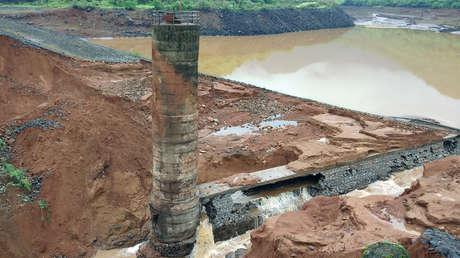 La represa de Tiware, Maharastra, India, 3 de julio de 2019.