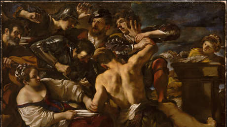 "Giovanni Francesco Barbieri, ""Sansón capturado por los filisteos"" (1619)"