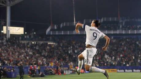 Momento del partido entre Los Angeles Galaxy y Toronto F.C. Carson, California, EE.UU., 4 de julio de 2019.