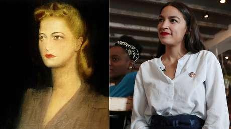 Eva Perón (a la izquierda) y Alexandria Ocasio-Cortez.