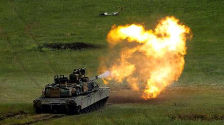 Un tanque M1A2 Abrams