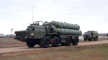 Sistema ruso de defensa aérea S-400.