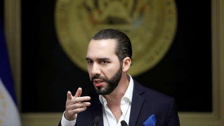 Nayib Bukele durante una conferencia de prensa, San Salvador, El Salvador, 2 de julio de 2019.
